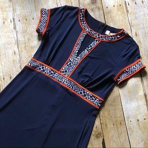 🆕 Michael Kors Mandarin Navy Petite Dress